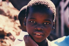 A young boy in Inanda Township