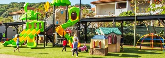Childrens jungle gym at Zimbali resort
