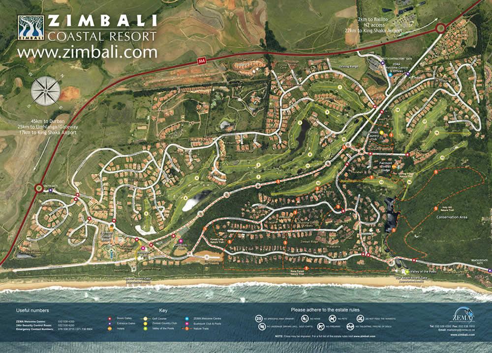 Map of Zimbali Coastal Estate