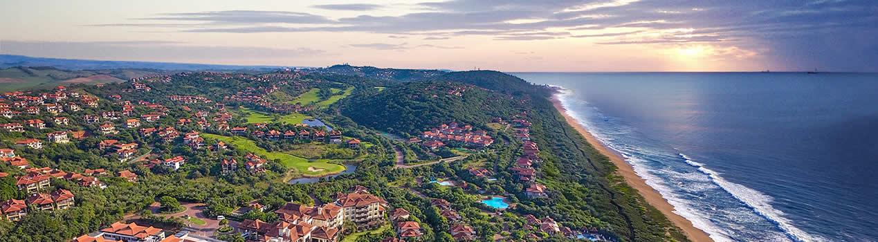 Zimbali Coastline Aerial View
